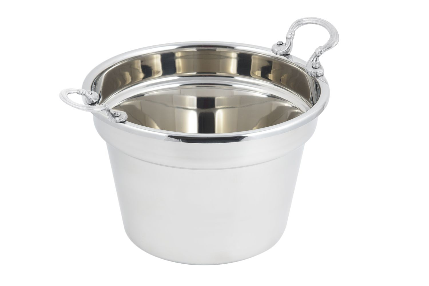 Bon Chef 5214HRSS Plain Design Soup Tureen with Round Stainless Steel Handles, 11 Qt.