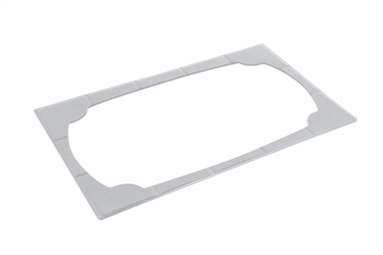"""Bon Chef 52160P EZ Fit Futura Single Tile for 70050, Pewter Glo 12 3/4"""" x 20 3/16"""""""