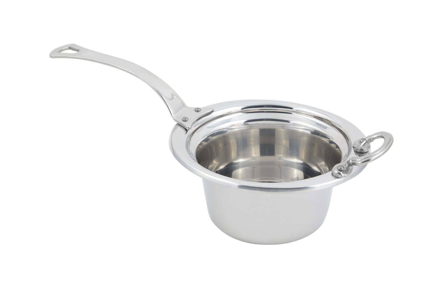 Bon Chef 5250HLSS Plain Design Casserole Dish with Long Stainless Steel Handle, 2 Qt.