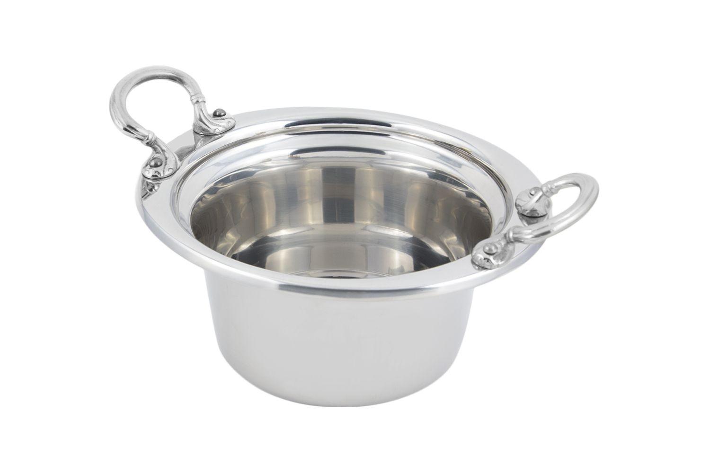 Bon Chef 5250HRSS Plain Design Casserole Dish with Round Stainless Steel Handles, 2 Qt.