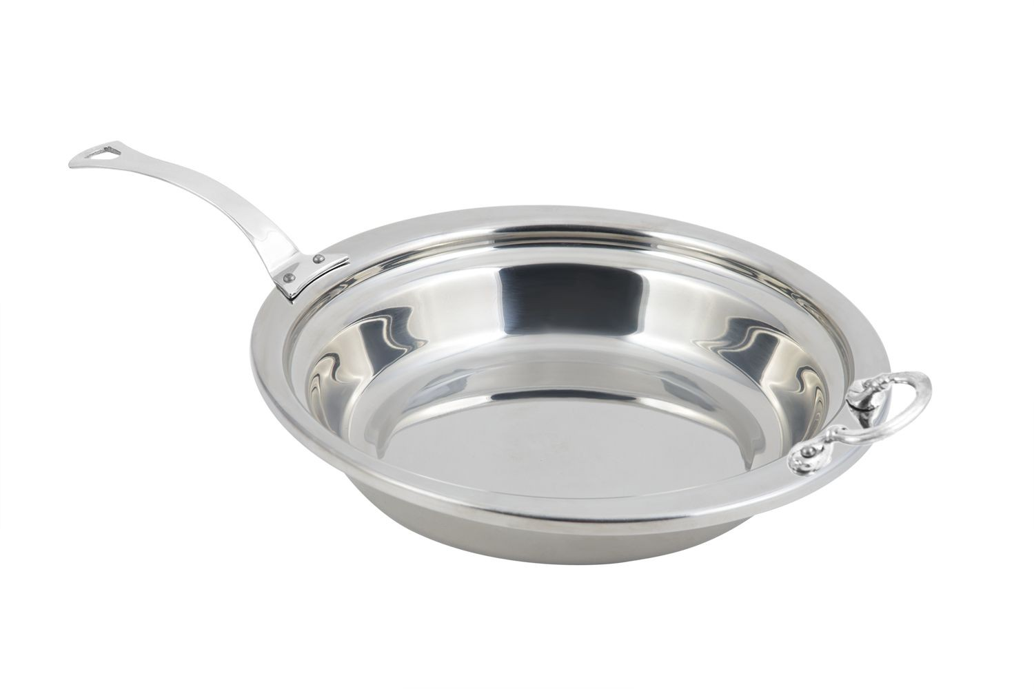 Bon Chef 5255HLSS Plain Design Casserole Dish with Long Stainless Steel Handle, 2 1/2 Qt.