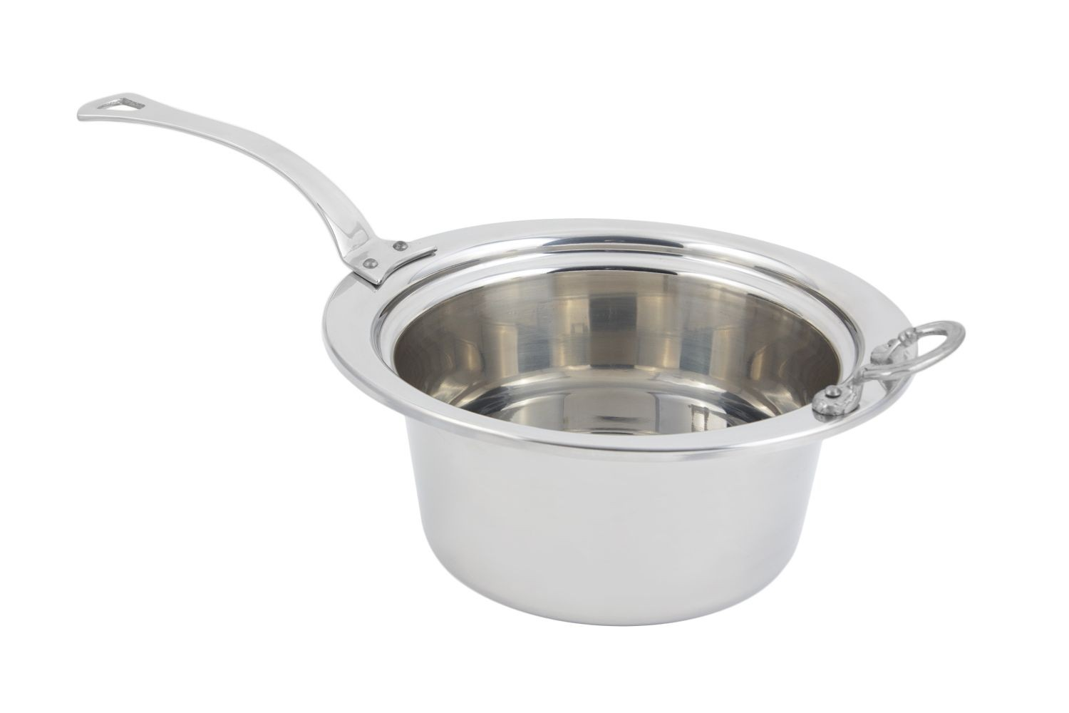 Bon Chef 5260HLSS Plain Design Casserole Dish with Long Stainless Steel Handle, 5 Qt.