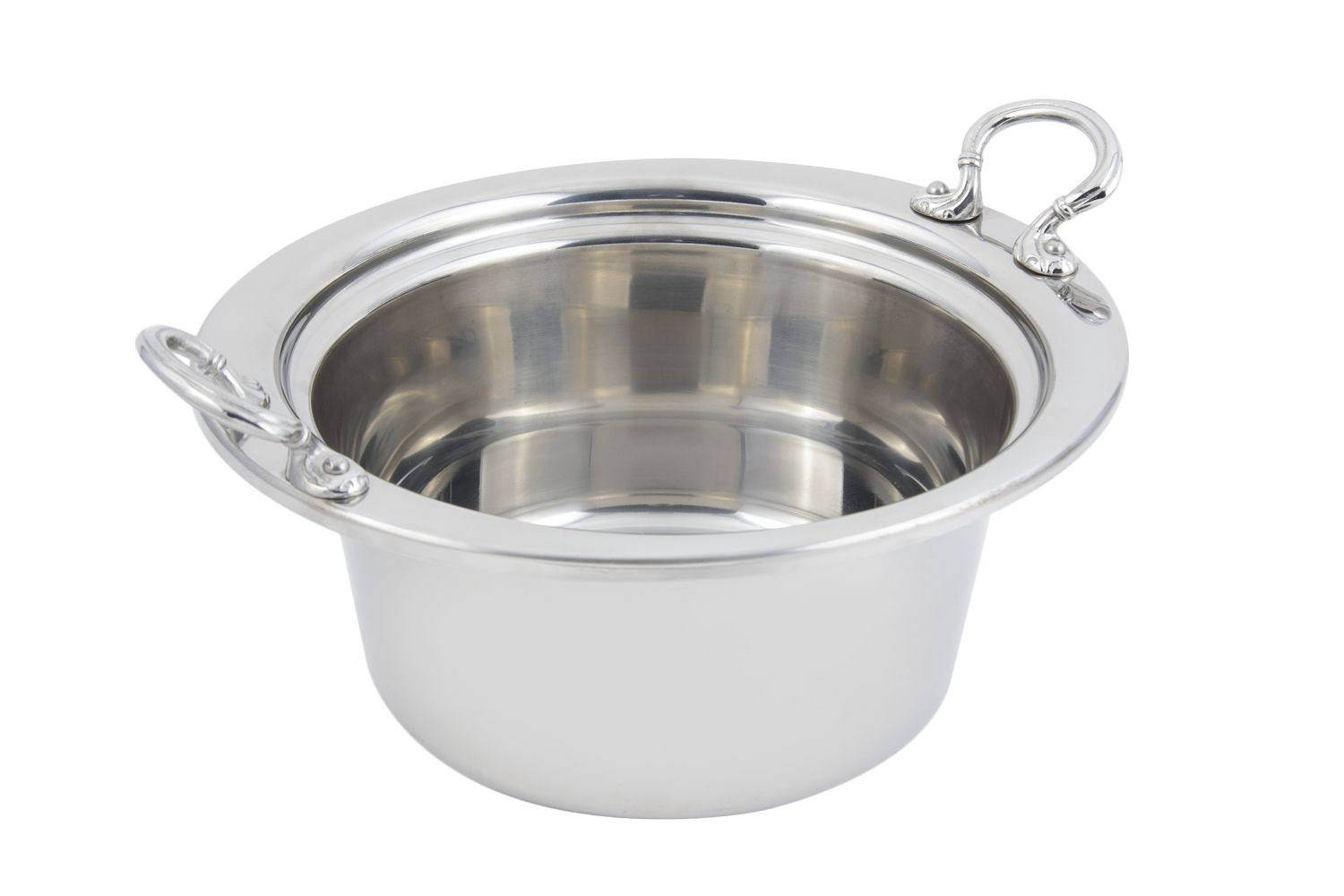 Bon Chef 5260HRSS Plain Design Casserole Dish with Round Stainless Steel Handles, 5 Qt.