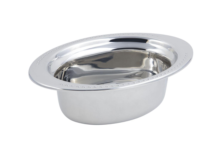 Bon Chef 5303 Bolero Design Oval Food Pan, 3 3/4 Qt.