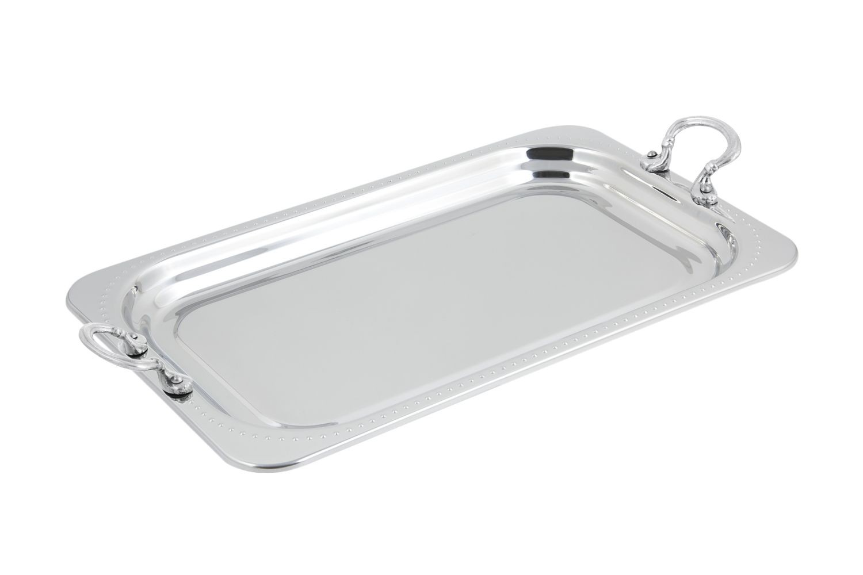 Bon Chef 5307HRSS Bolero Design Rectangular Full-Size Food Pan with Round Stainless Steel Handles, 4 1/2 Qt.