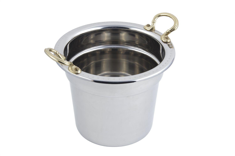 Bon Chef 5311HR Bolero Design Soup Tureen with Round Brass Handles, 7 Qt. 1 Pt.