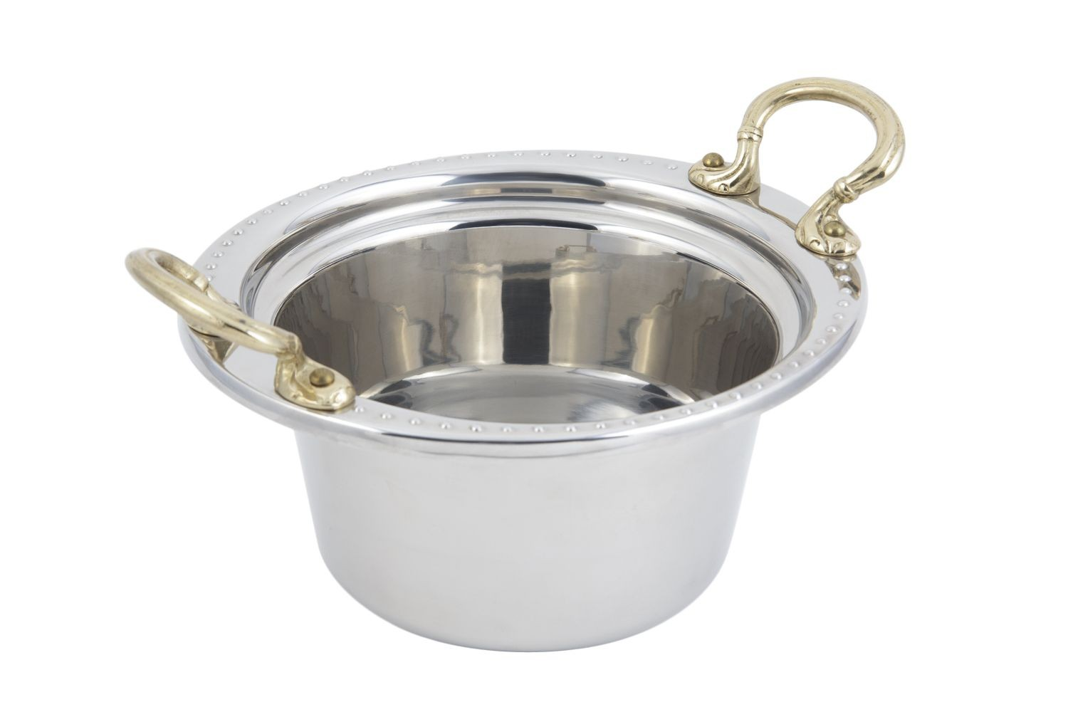 Bon Chef 5350HR Bolero Design Casserole Dish with Round Brass Handles, 2 Qt.
