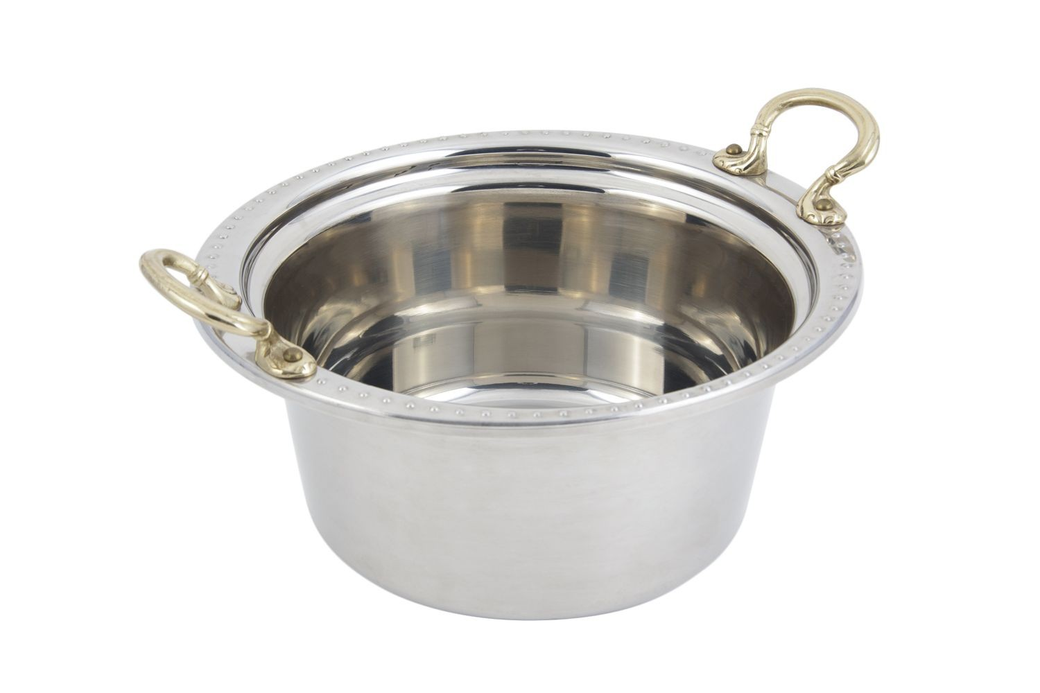 Bon Chef 5360HR Bolero Design Casserole Dish with Round Brass Handles, 5 Qt.