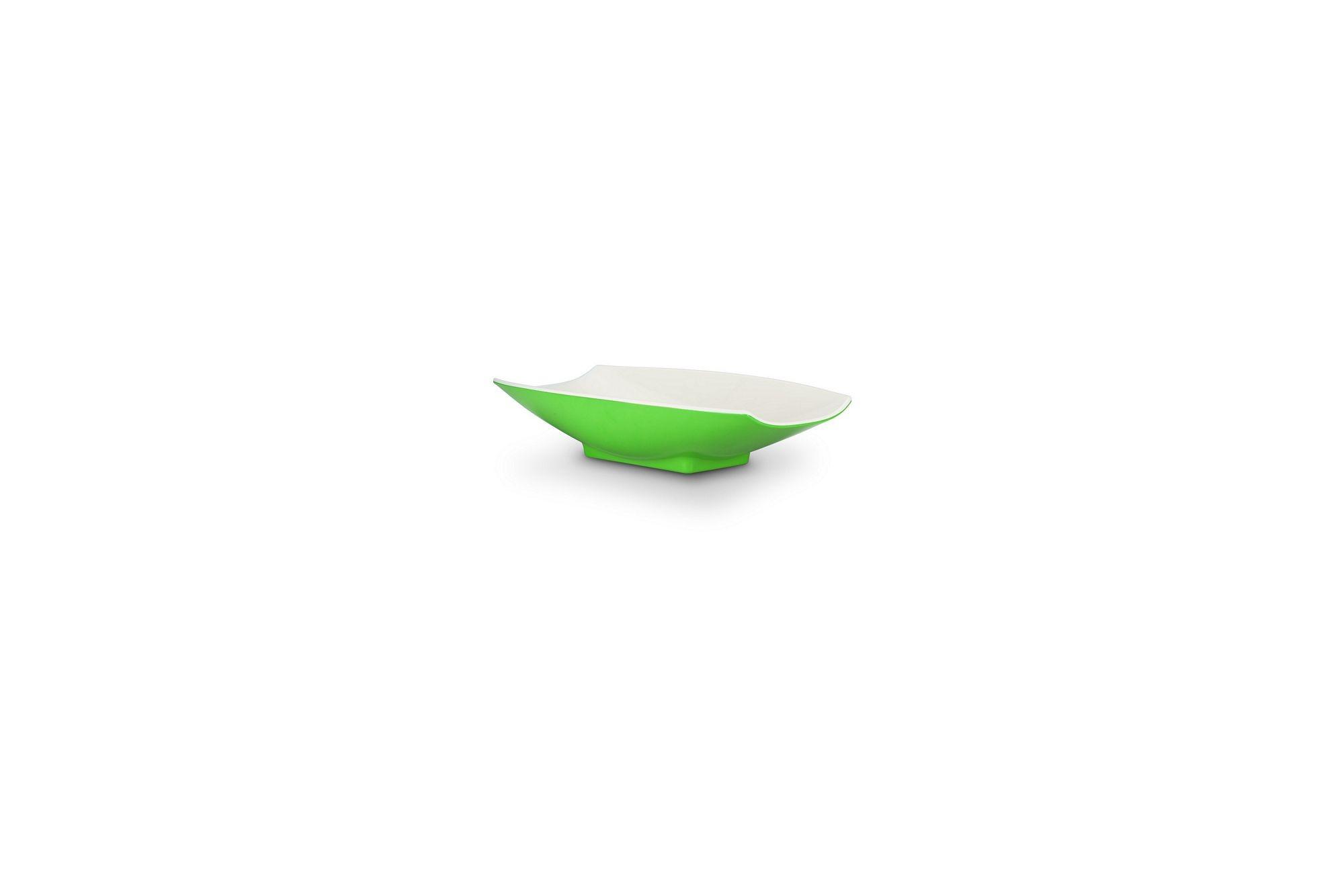 Bon Chef 53700-2ToneLime Melamine Curves Bowl, Lime Outside/White Inside 4 oz.