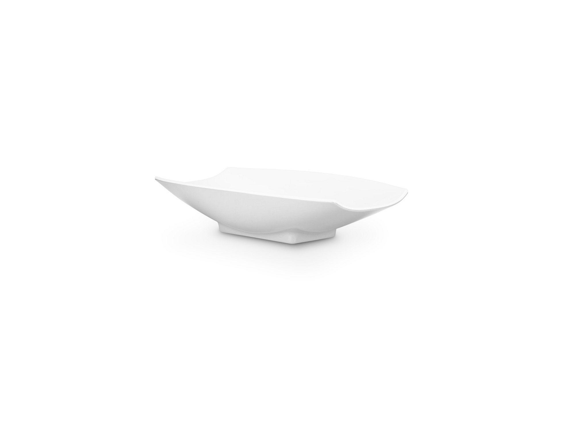 Bon Chef 53700White White Melamine Curves Bowl, 4 oz.