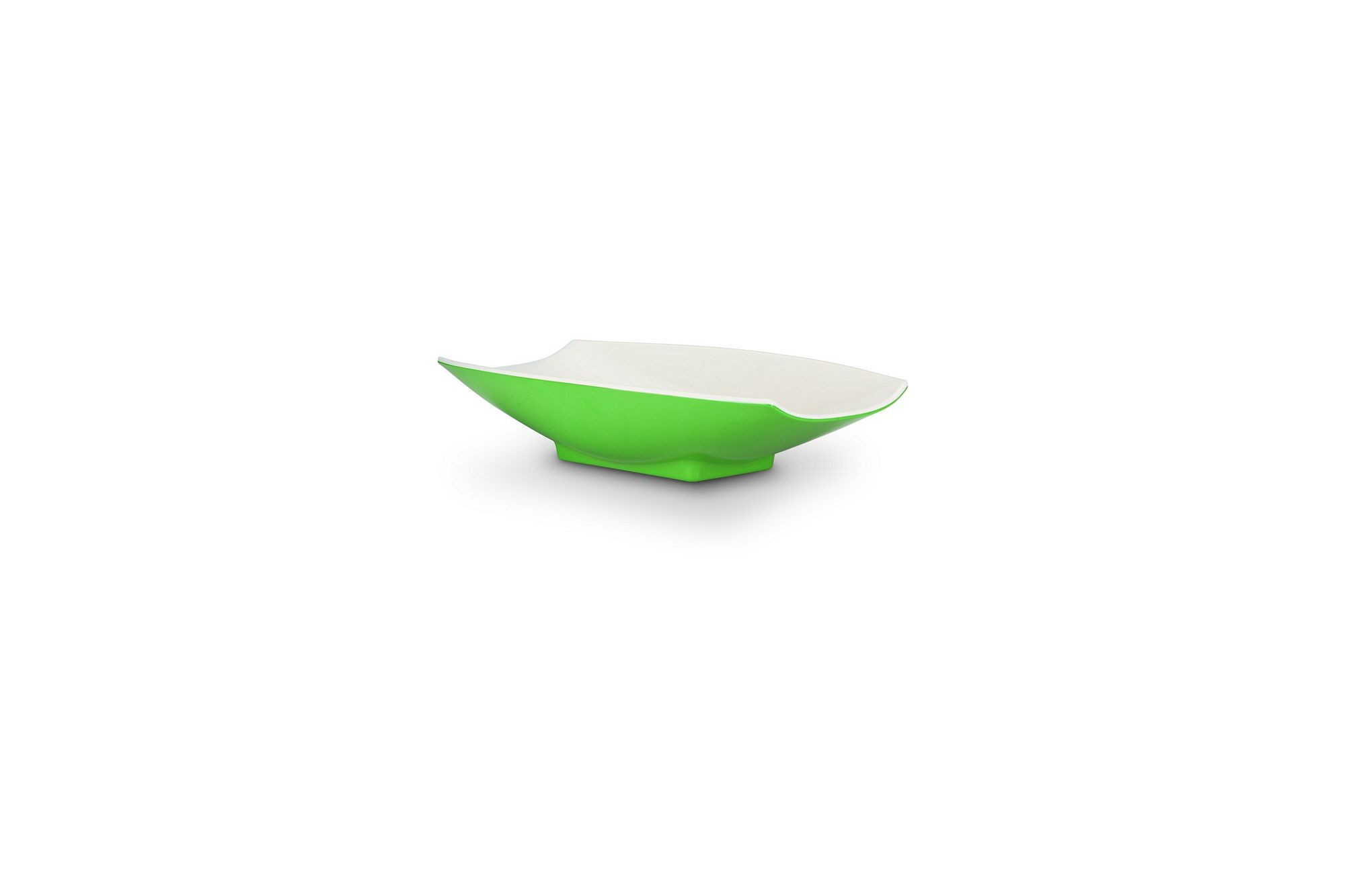 Bon Chef 53701-2ToneLime Melamine Curves Bowl, Lime Outside/White Inside 8 oz.