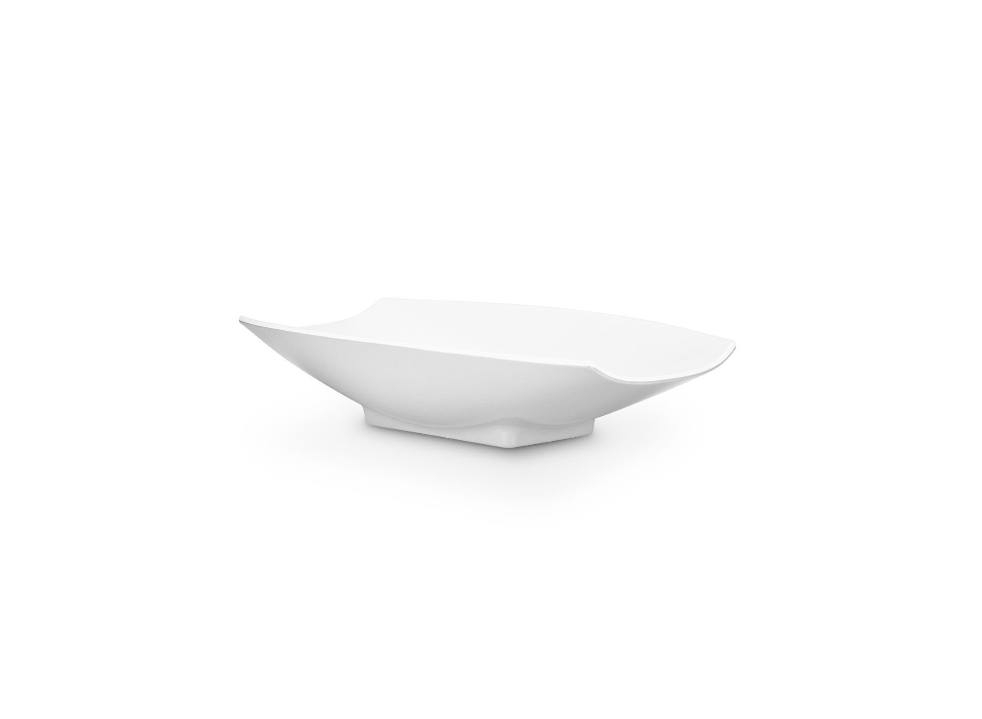 Bon Chef 53701White White Melamine Curves Bowl, 8 oz.