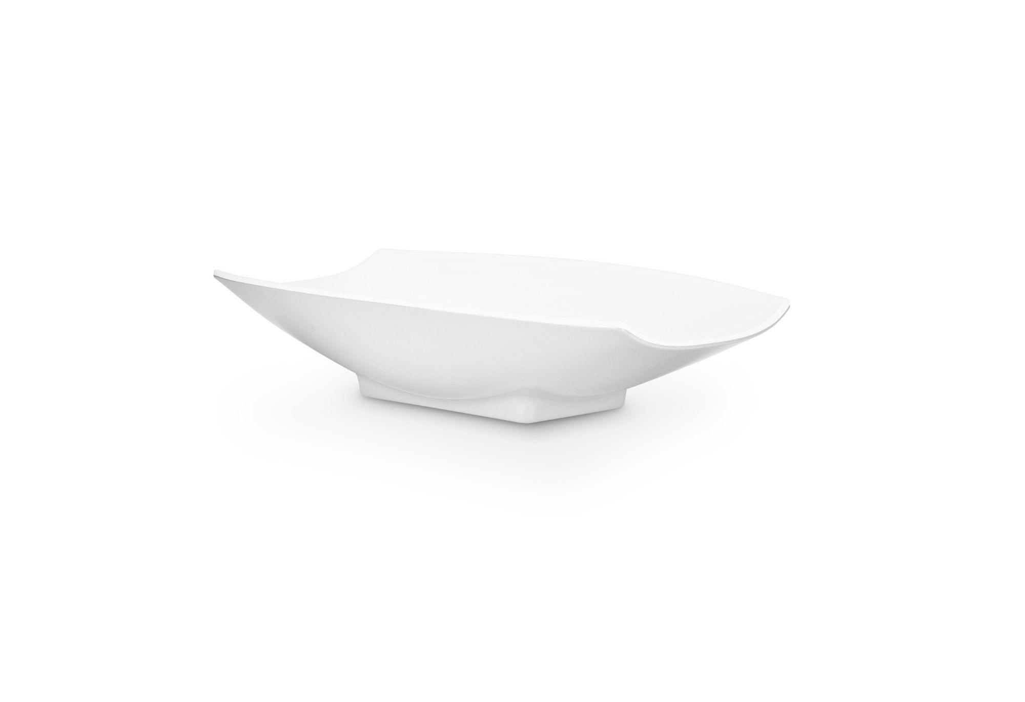 Bon Chef 53702White White Melamine Curves Bowl, 24 oz.