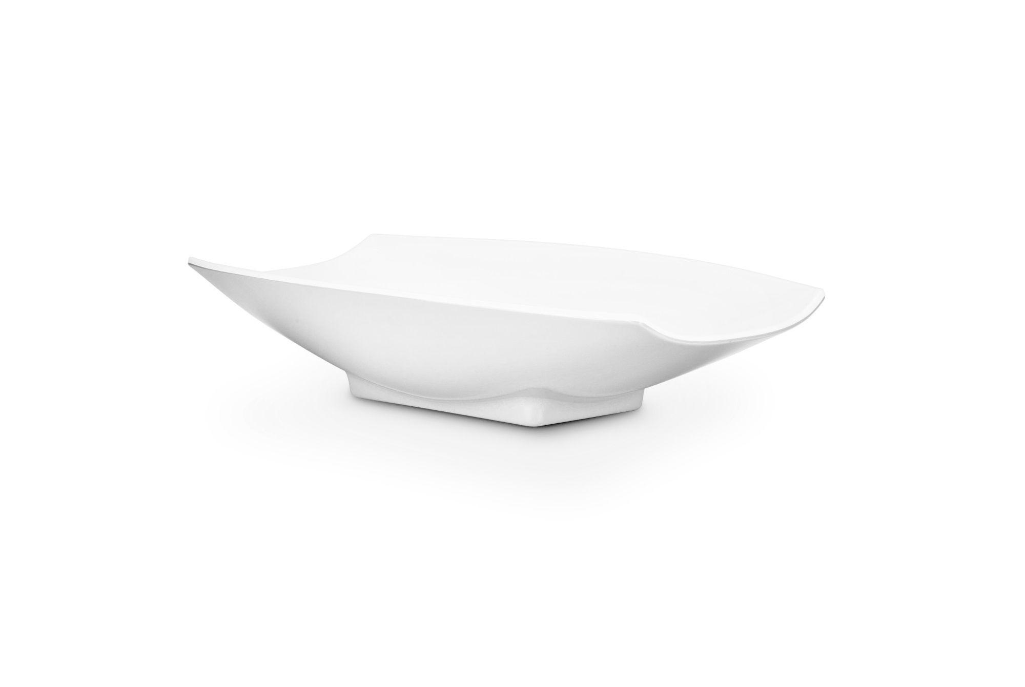 Bon Chef 53703White White Melamine Curves Bowl, 1 Qt.