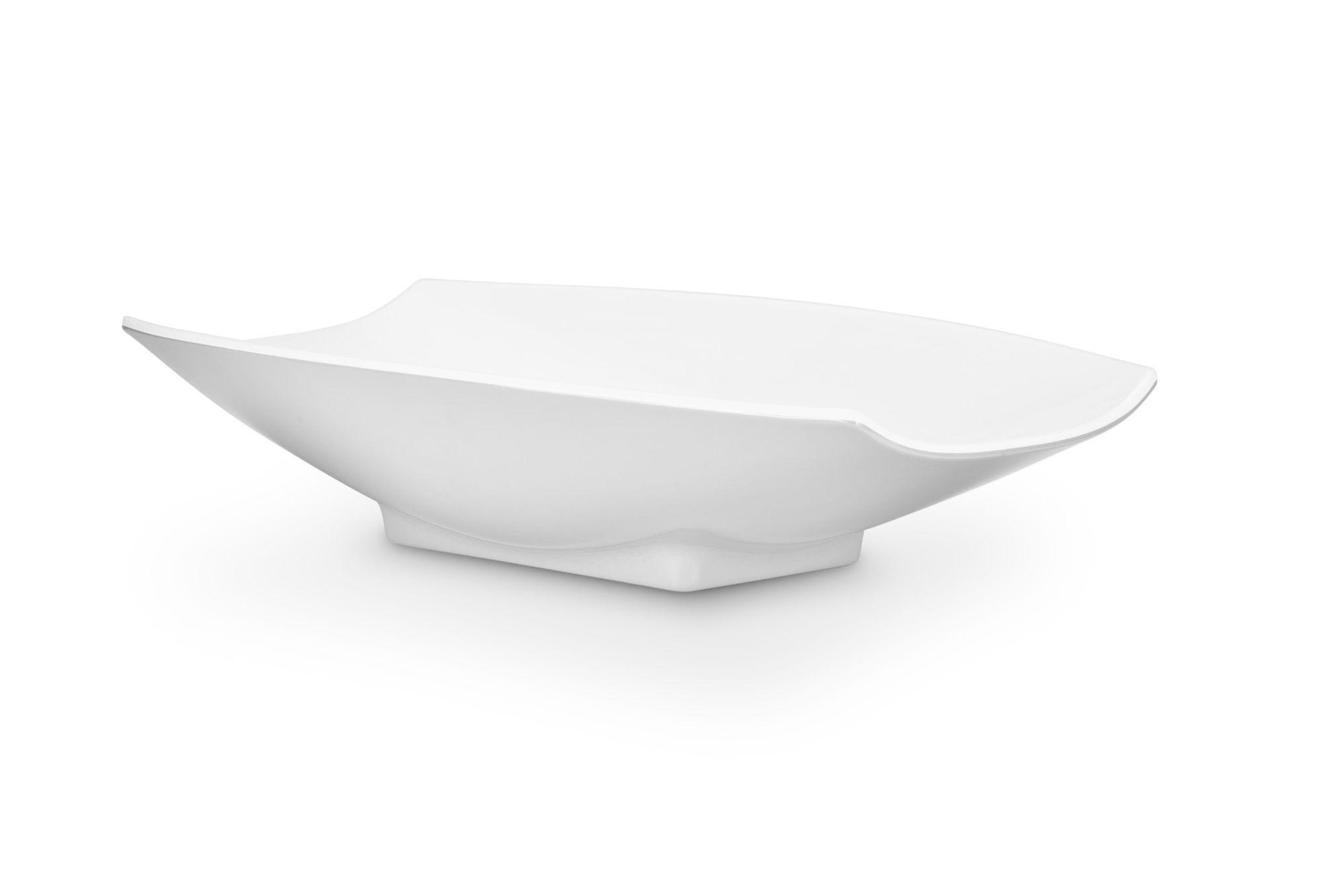 Bon Chef 53704White White Melamine Curves Bowl, 2 Qt.