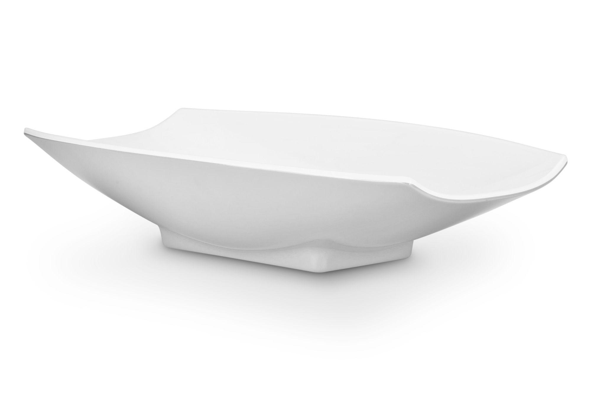 Bon Chef 53705White White Melamine Curves Bowl, 5 Qt.