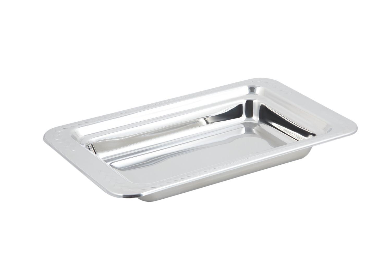 Bon Chef 5406 Laurel Design Rectangular Food Pan, 4 Qt.