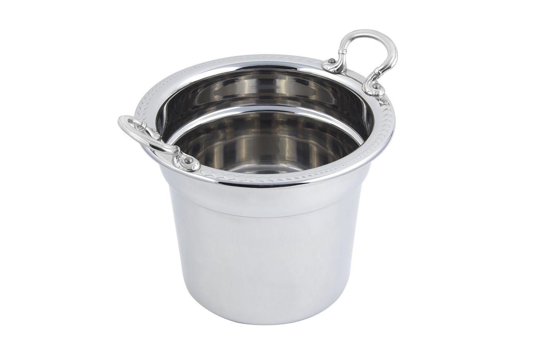 Bon Chef 5411HRSS Laurel Design Soup Tureen with Round Handles, 7 Qt. 1 Pt.