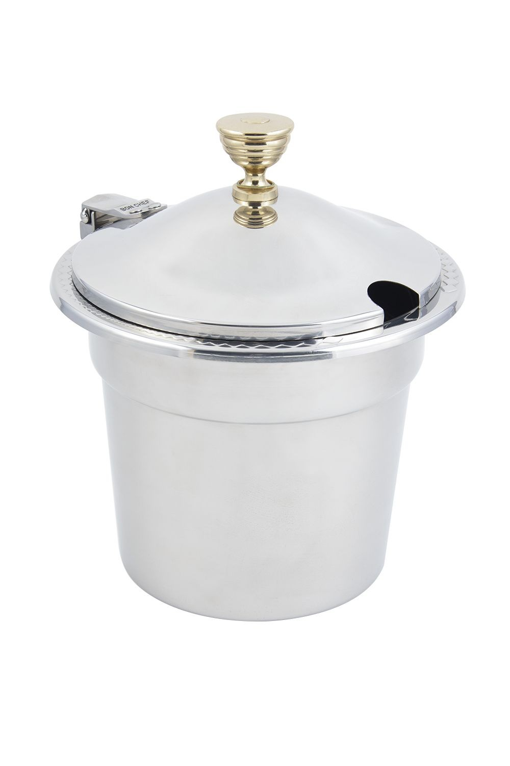 Bon Chef 5411WHC Laurel Design Soup Tureen with Hinged Cover, 7 Qt. 1 Pt.