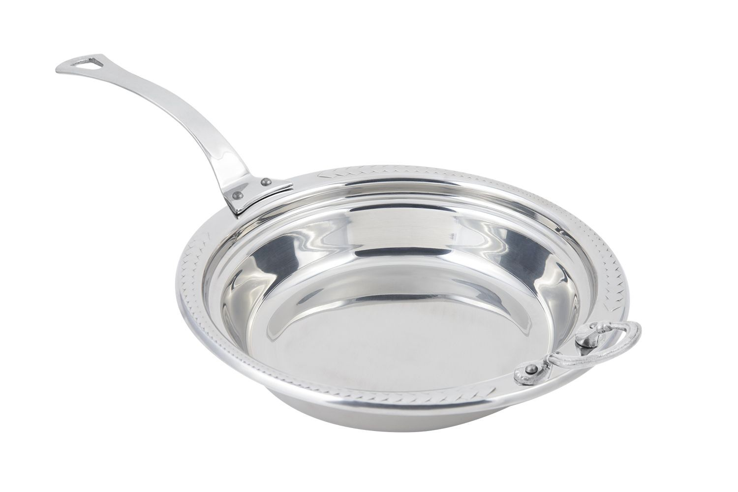 Bon Chef 5455HLSS Laurel Design Casserole Dish with Long Handle, 2 1/2 Qt.