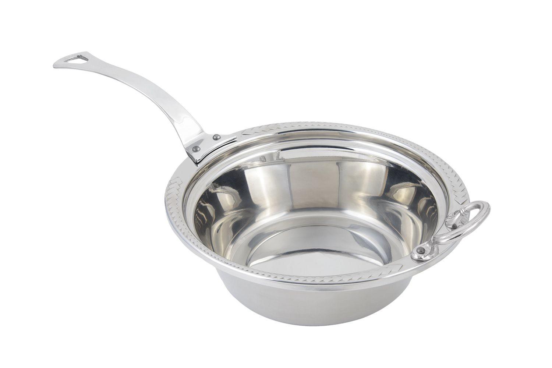 Bon Chef 5456HLSS Laurel Design Casserole Dish with Long Handle, 4 Qt.