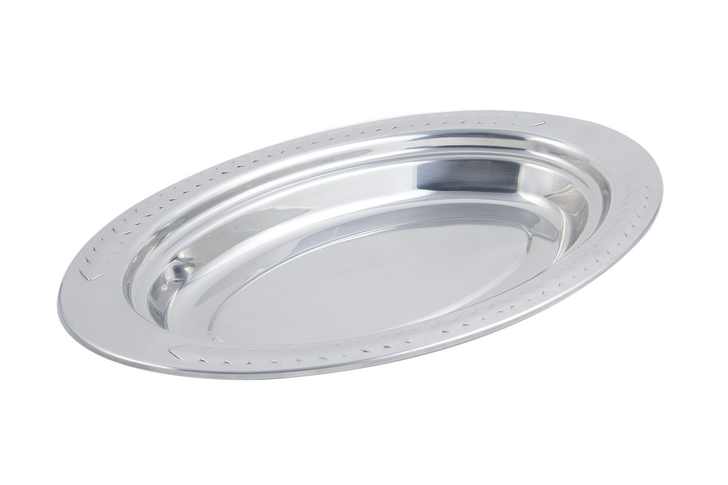 Bon Chef 5488 Laurel Design Oval Pan, 2 1/2 Qt.