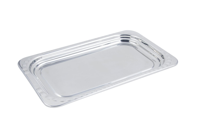 Bon Chef 5607 Arches Design Rectangular Full-Size Food Pan, 4 1/2 Qt.