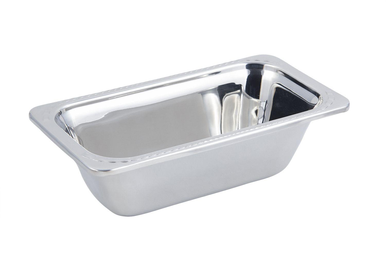 Bon Chef 5613 Arches Design 1/3 Size Food Pan, 2 Qt.