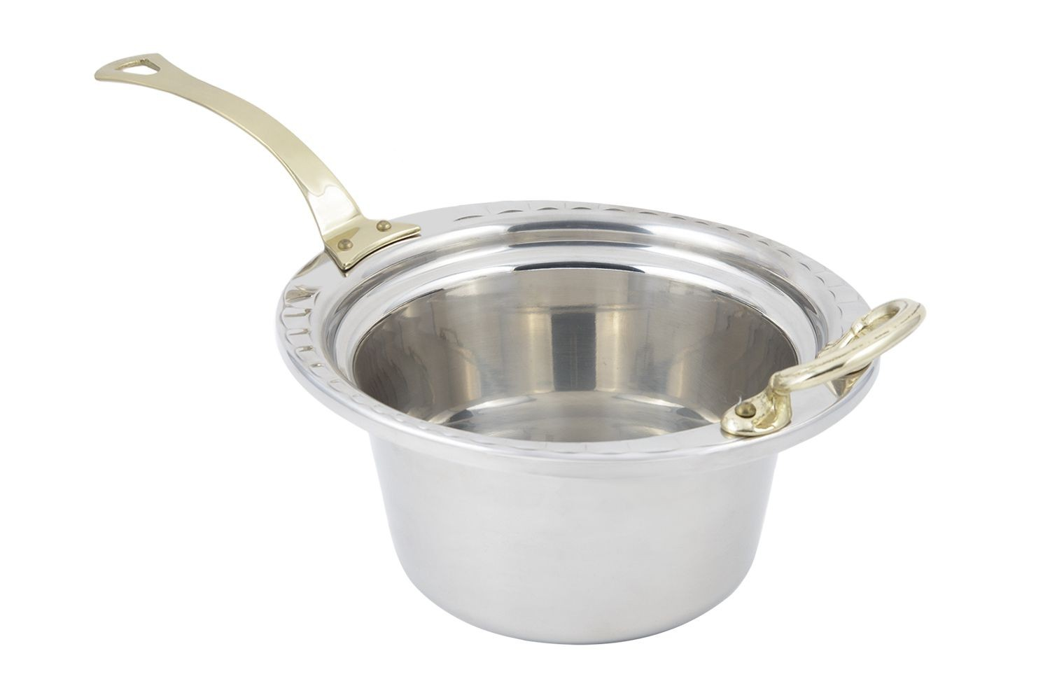 Bon Chef 5650HL Arches Design Casserole Dish with Long Brass Handle, 2 Qt.