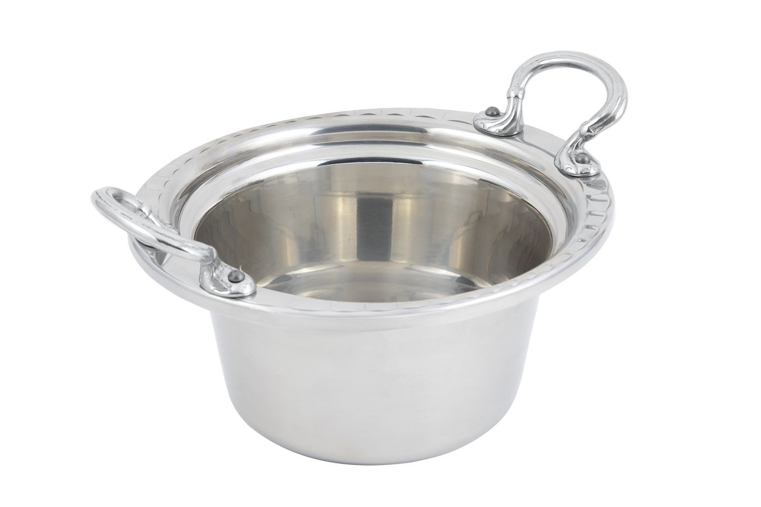 Bon Chef 5650HRSS Arches Design Casserole Dish with Round Handles, 2 Qt.