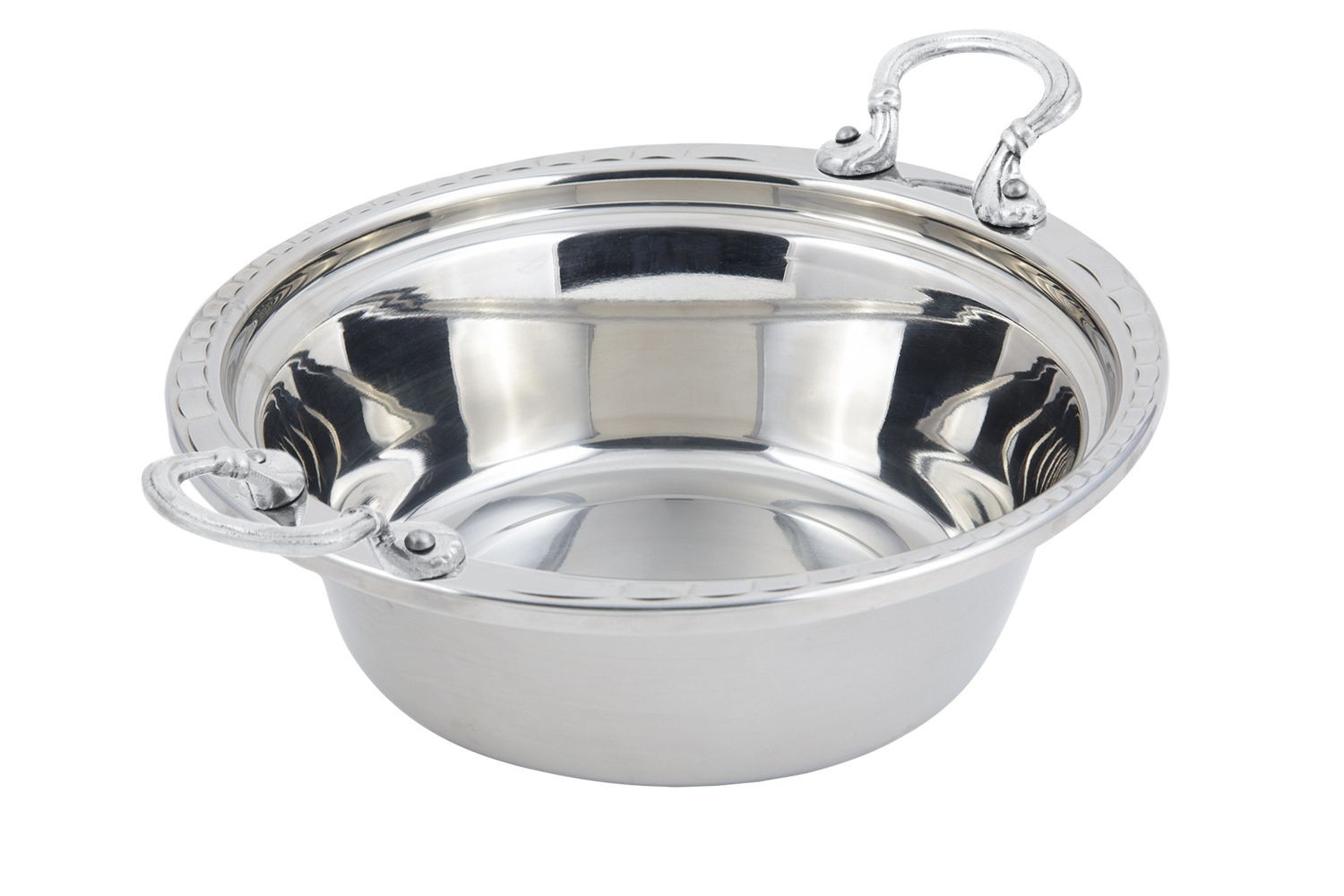 Bon Chef 5656HRSS Arches Design Casserole Dish with Round Handles, 4 Qt.