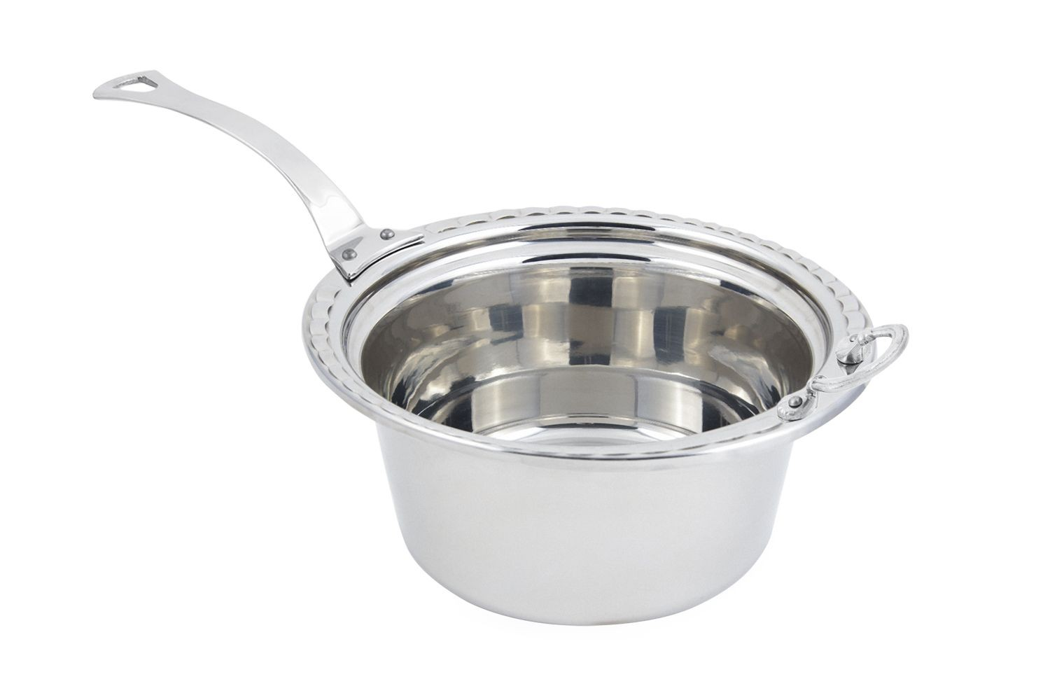 Bon Chef 5660HLSS Arches Design Casserole Dish with Long Handle, 5 Qt.
