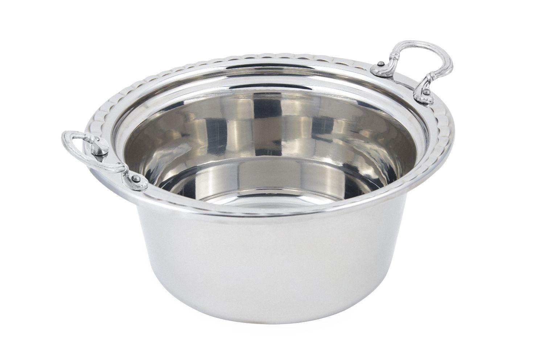 Bon Chef 5660HRSS Arches Design Casserole Dish with Round Handles, 5 Qt.