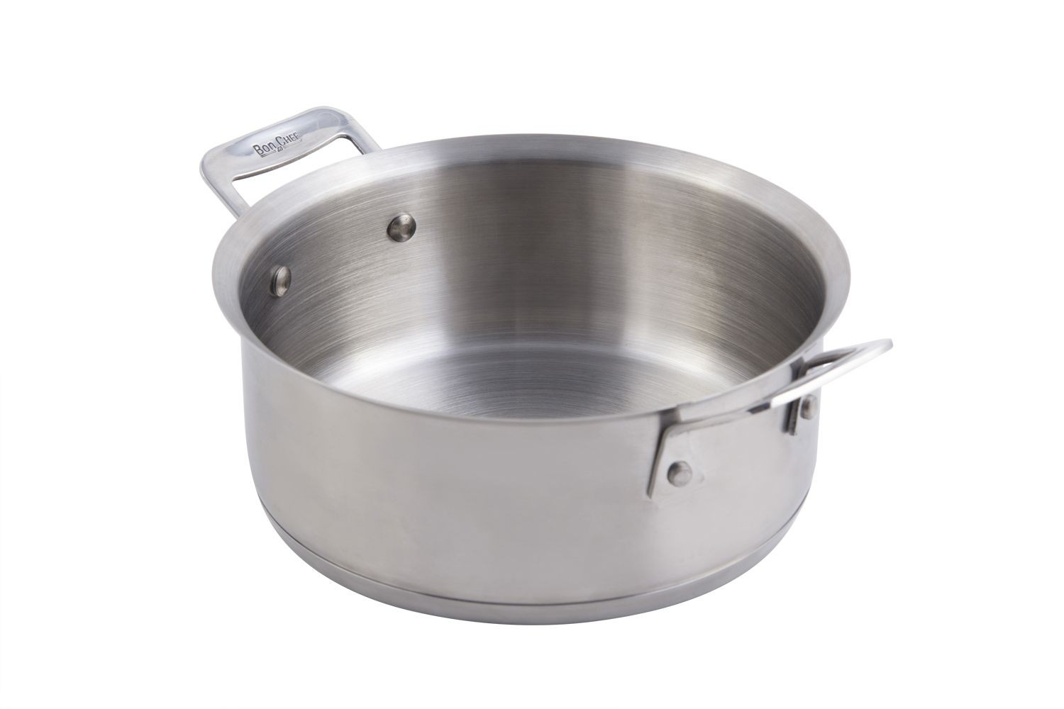 Bon Chef 60000 Cucina Stainless Steel Casserole Dish with Lid, 3 Qt.