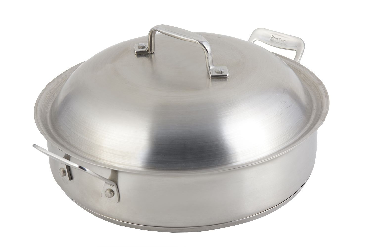 Bon Chef 60001 Cucina Stainless Steel Saute Pan With Lid 4 Qt