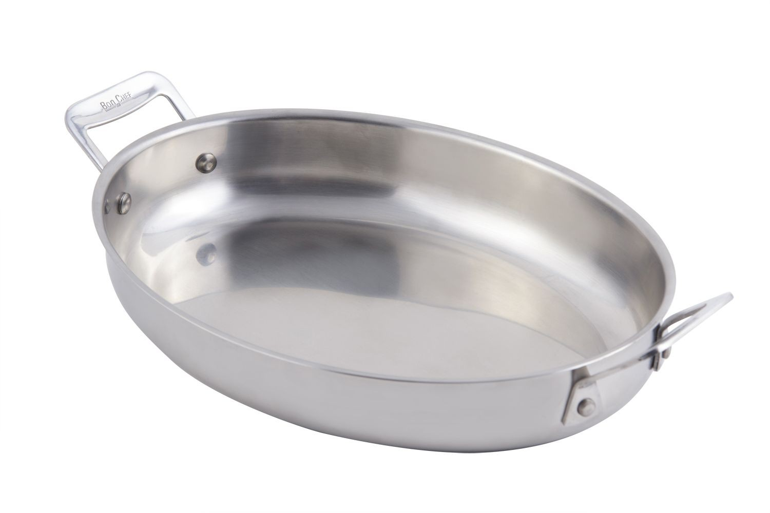 Bon Chef 60002 Cucina Stainless Steel Oval Au Gratin, 2 1/2 Qt.
