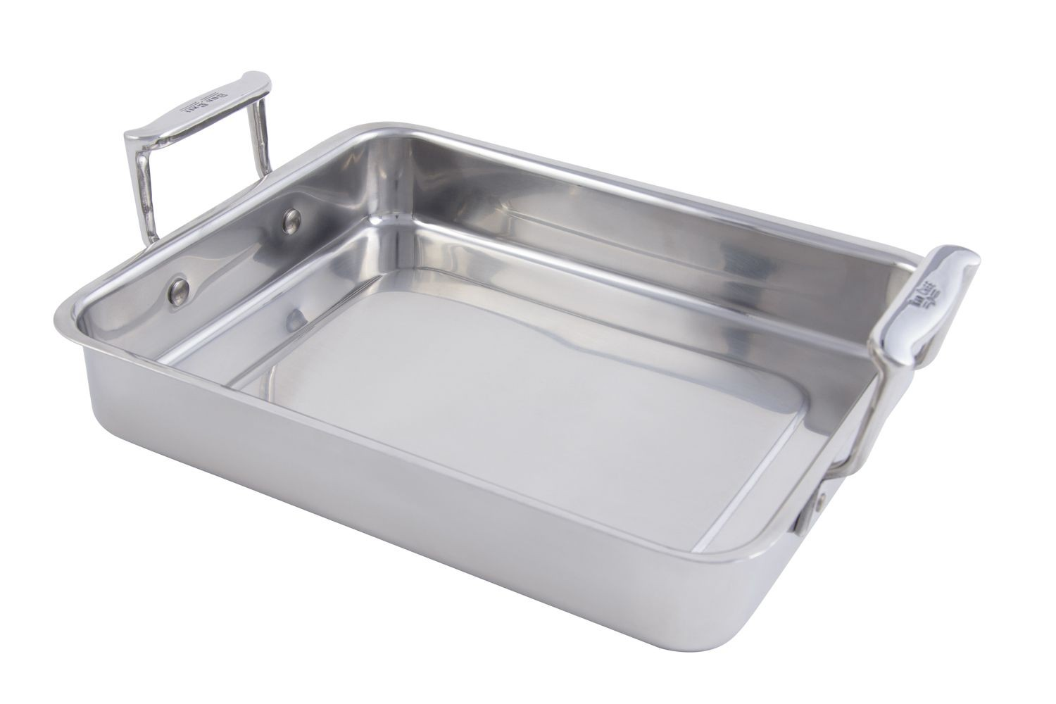 Bon Chef 60013 Cucina Small Stainless Steel Food Pan with Handles, 3 Qt.