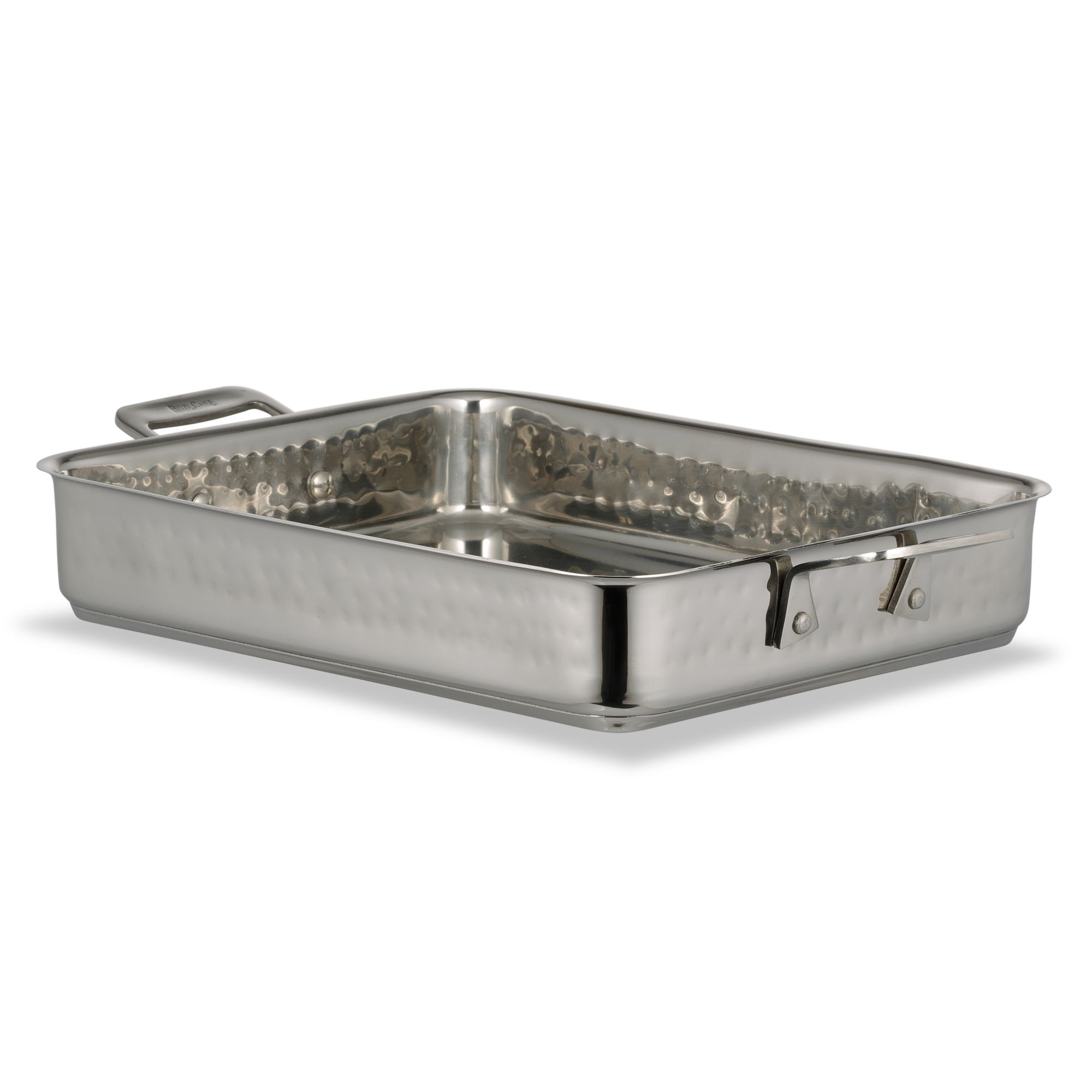 Bon Chef 60013CLDHF Cucina Stainless Steel Small Square Pan, Hammered Finish, 3 Qt.