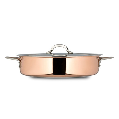 Bon Chef 60030-CopperHL Copper Pot with Hinged Lid, 6 Qt.