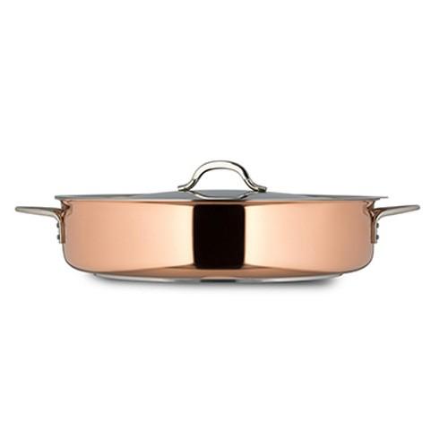 Bon Chef 60032-Copper Cucina Copper Pot with Cover, 9 Qt.