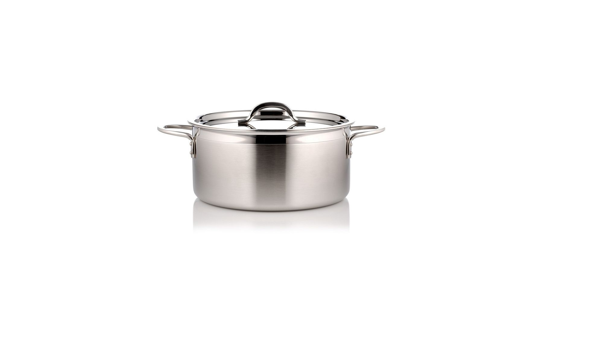 Bon Chef 60299-2ToneSS Country French Two Tone Stainless Steel Pot with Cover, 1 Qt. 22 oz.