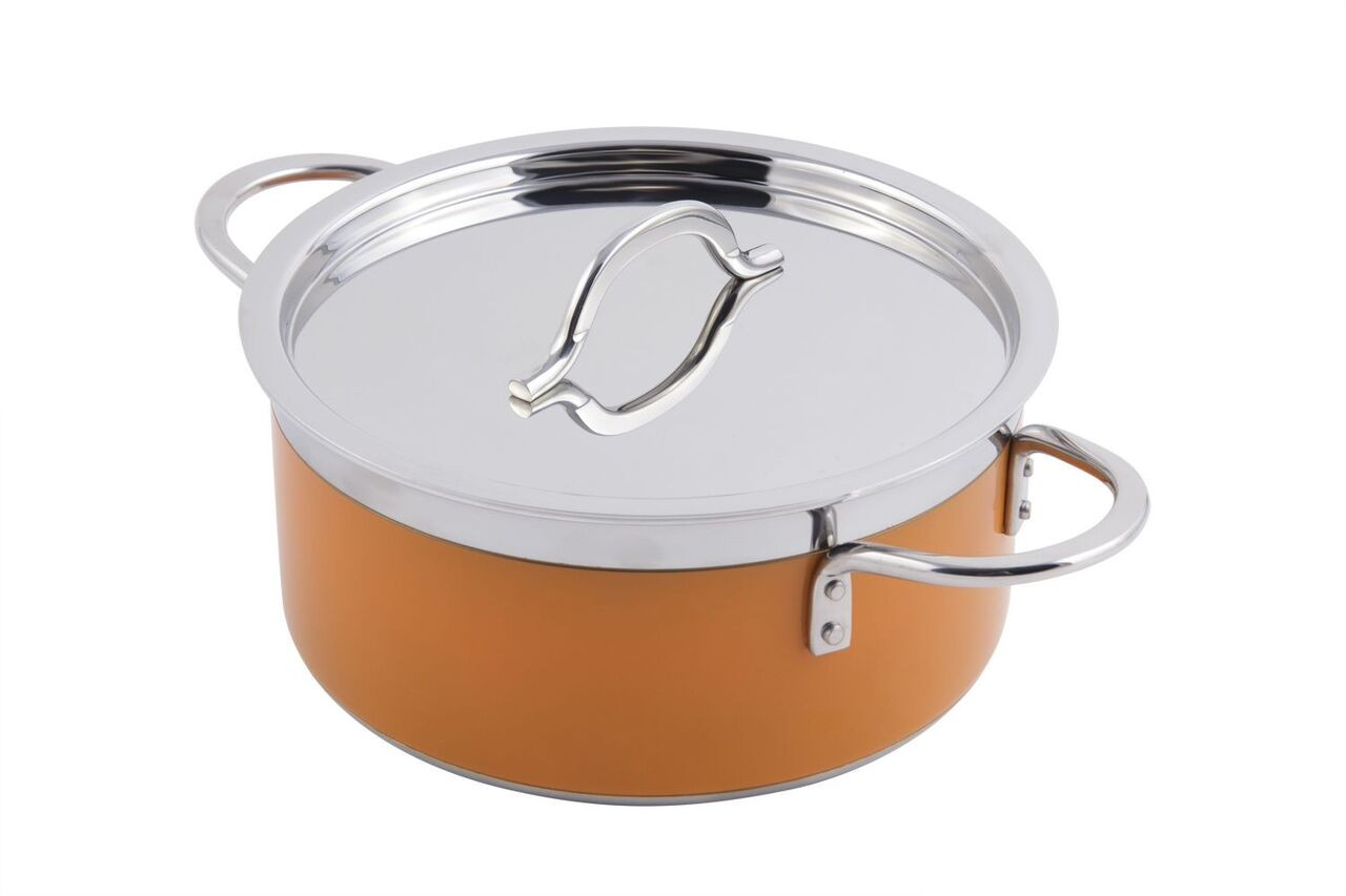 Bon Chef 60299ColorHL Classic Country French Collection Pot with Hinged Lid 1 Qt. 22 oz.