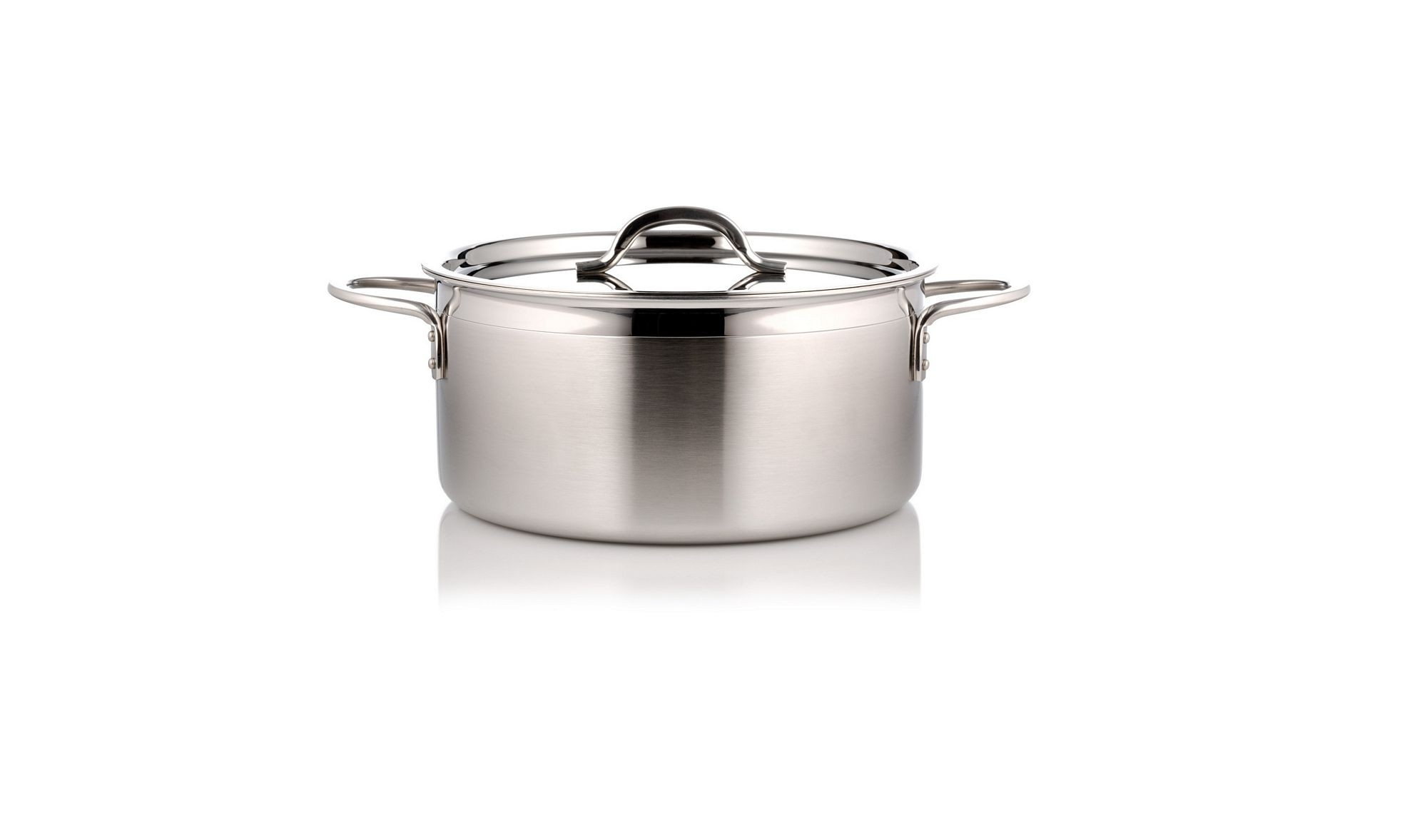 Bon Chef 60300-2ToneSS Country French Two Tone Stainless Steel Pot with Cover, 2 Qt. 9 oz.