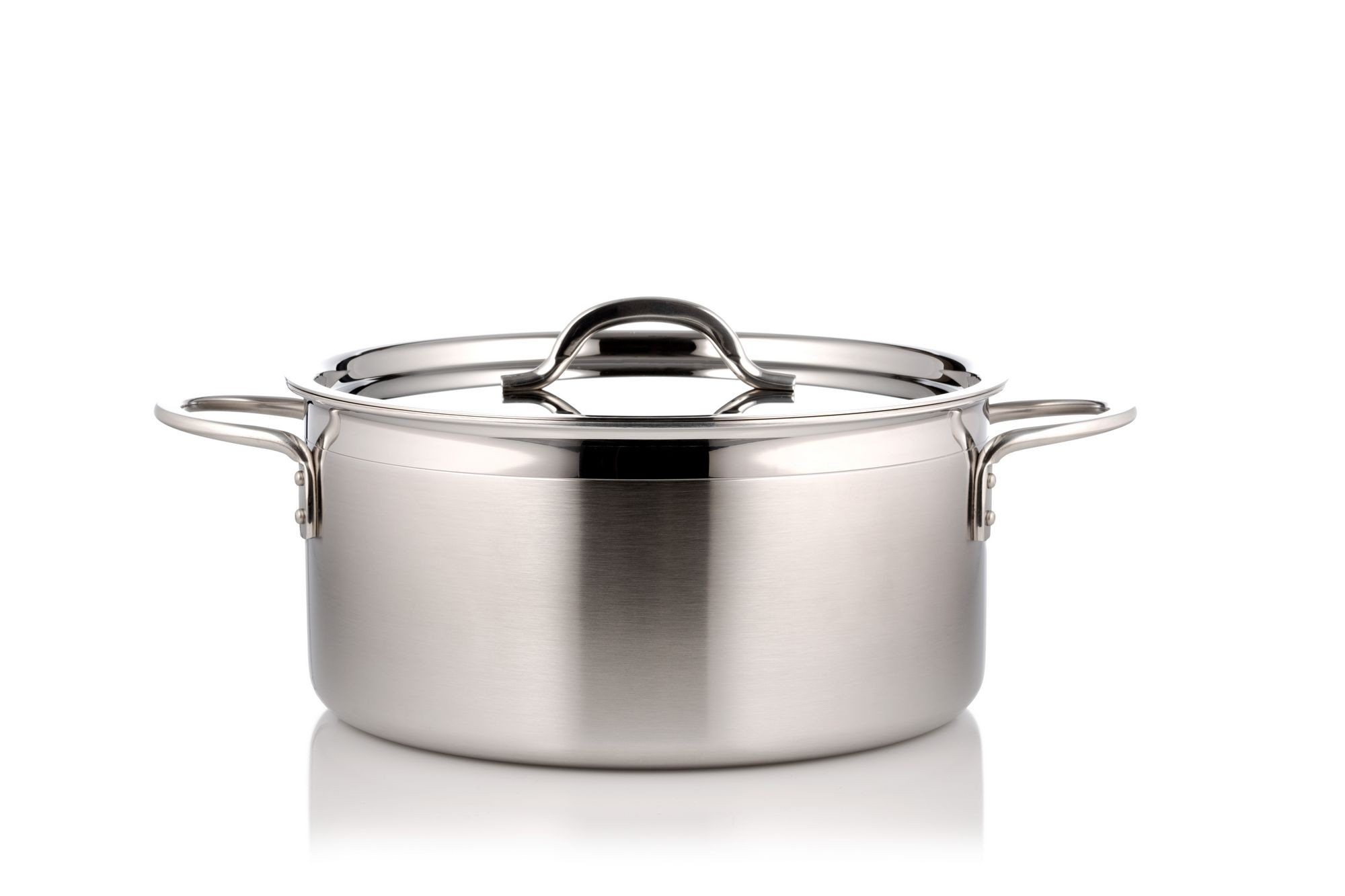 Bon Chef 60303-2ToneSS Country French Two Tone Stainless Steel Pot with Cover, 5 Qt. 22 oz.