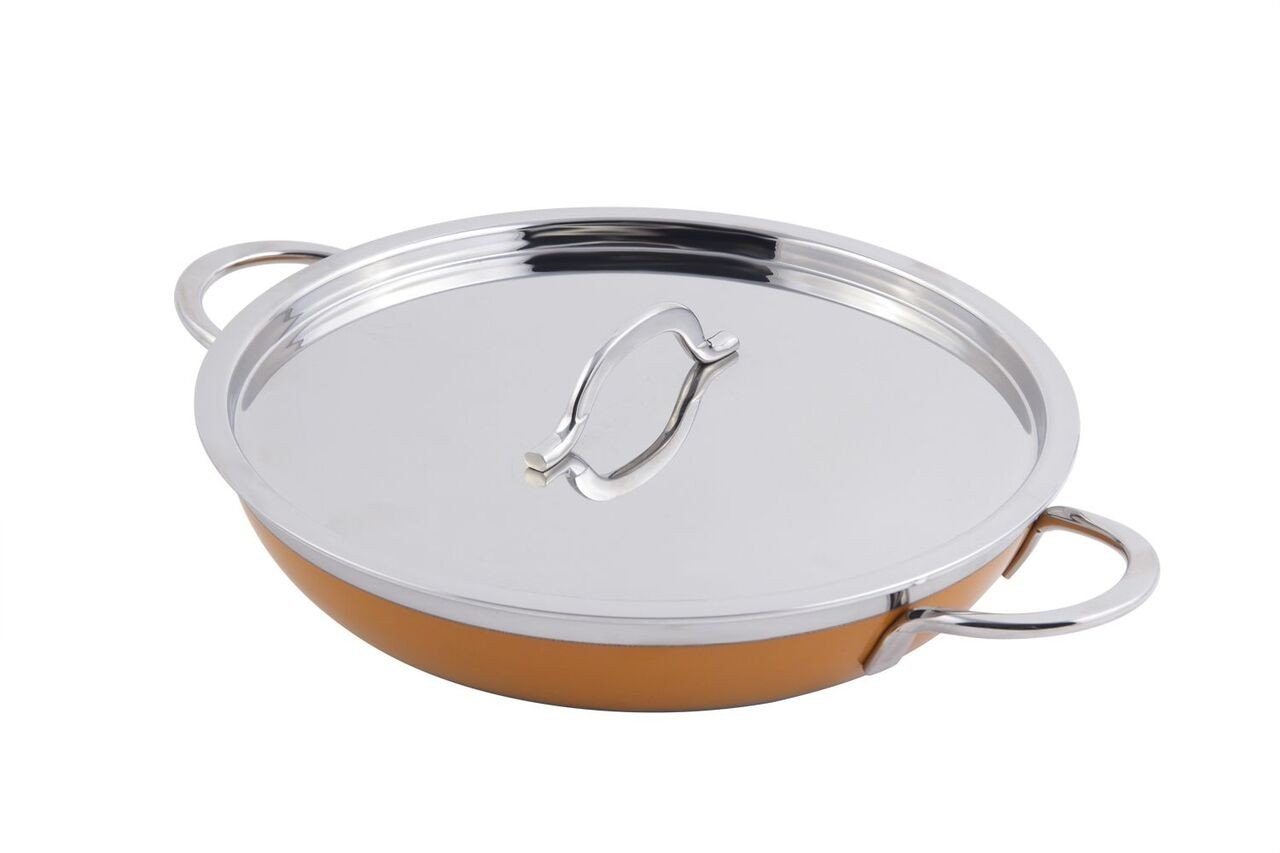 Bon Chef 60305 Classic Country French Collection Saute Pan/Skillet with Cover, 2 Qt. 12 oz.