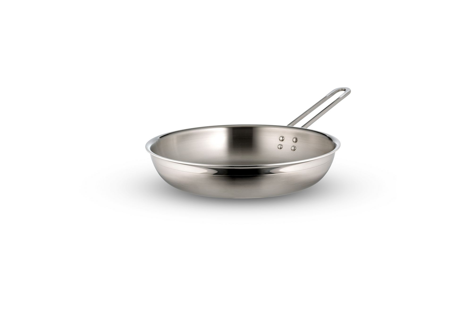 Bon Chef 60307-2ToneSS Country French Two Tone Stainless Steel Saute Pan with Long Handle, 1 Qt. 20 oz.