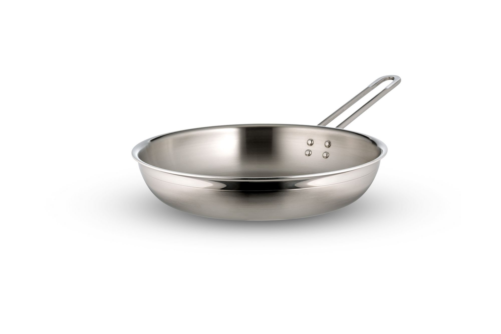 Bon Chef 60308-2ToneSS Country French Two Tone Stainless Steel Saute Pan with Long Handle, 2 Qt. 12 oz.