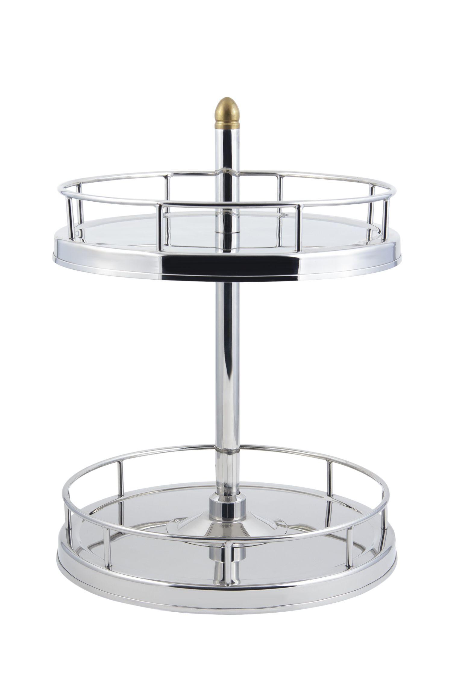 """Bon Chef 61110 Revolving Glass Stand, 17""""  x 17"""" x  23 3/4"""" H"""