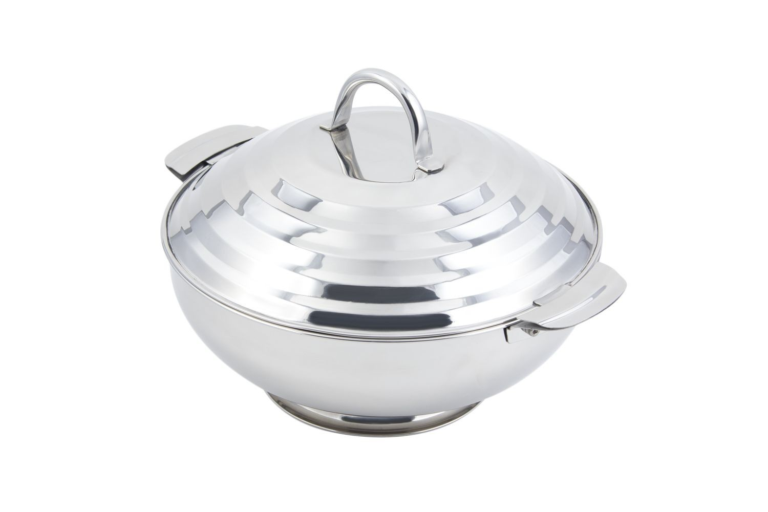 "Bon Chef 61209 Round Stainless Steel Server, 13 3/5"" Dia."