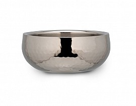 Bon Chef 61224 Double Walled Bowl with Hammered Finish, 10 Qt.